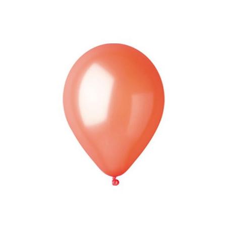 100 baloane rotunde orange metalizate 30 cm