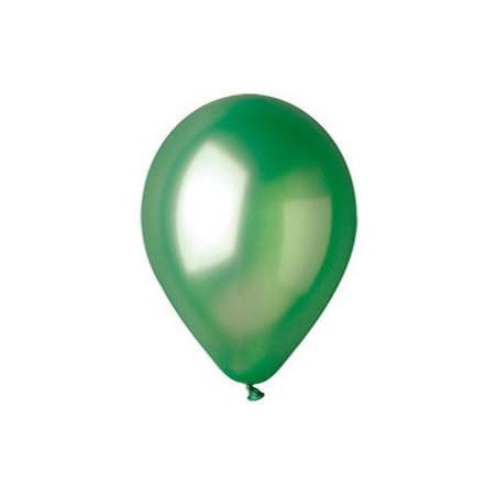 100 baloane rotunde verde metalizate 30 cm