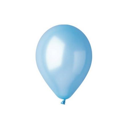 100 baloane rotunde bleu metalizate 30 cm