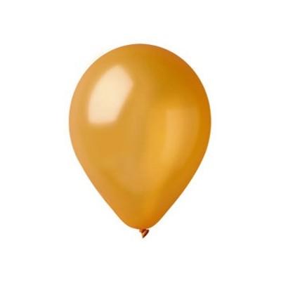 100 baloane rotunde auriu metalizate 30 cm