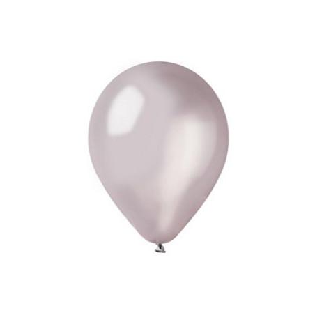 100 baloane rotunde argintiu metalizate 30 cm
