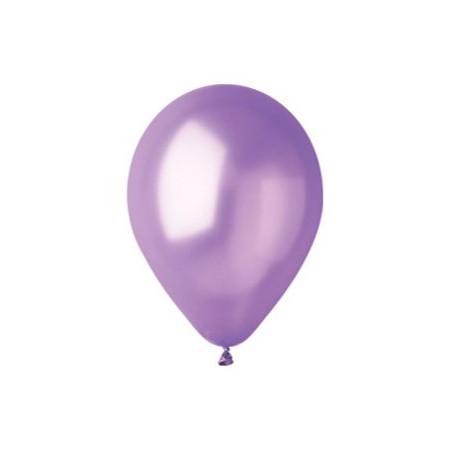 100 baloane rotunde lavanda metalizate 30 cm