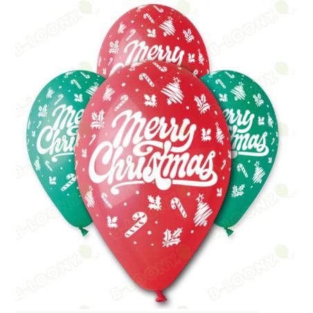 Set 100 baloane inscriptionate Merry Christmas