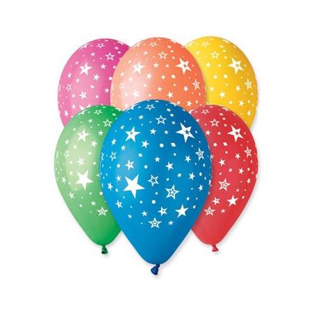 Set 100 baloane asortate inscriptionate cu stelute