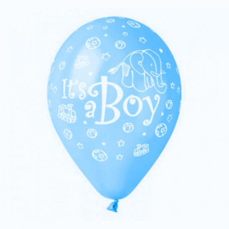 Set 100 baloane bleu inscriptionate It's a Boy