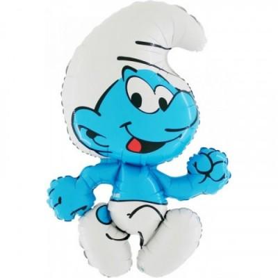 Balon folie figurina Strumf 76 cm