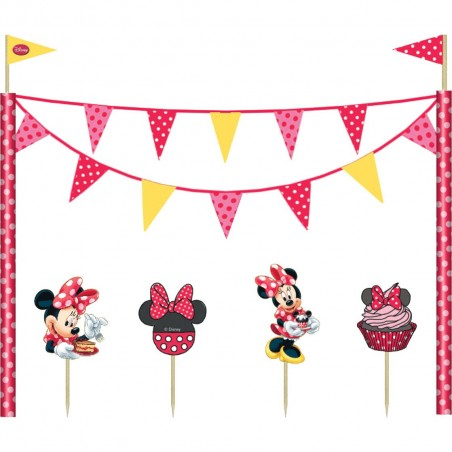 Set decoratiuni tort Minnie Cafe