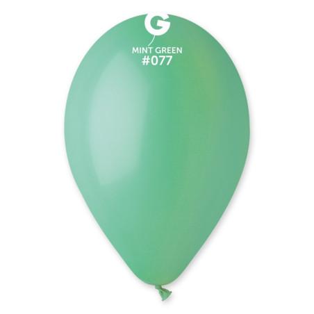 100 baloane rotunde verde menta