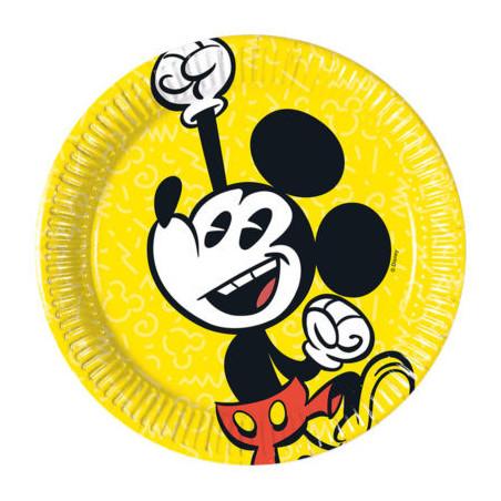 Set 8 farfurii party carton 20 cm Mickey Super Cool