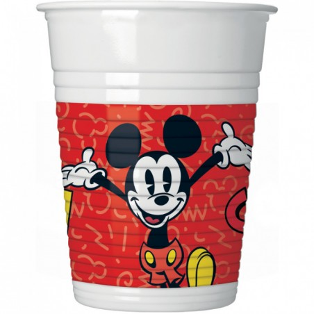 Set 8 pahare party Mickey Super Cool