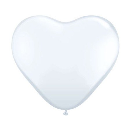 Set 100 baloane latex 25 cm inima alba