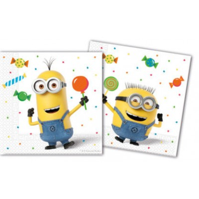 Set 20 servetele party Minions Balloons