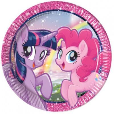 Set 8 farfurii 23 cm Pony si Prietenii