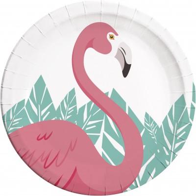 Set 8 farfurii 23 cm Flamingo Party
