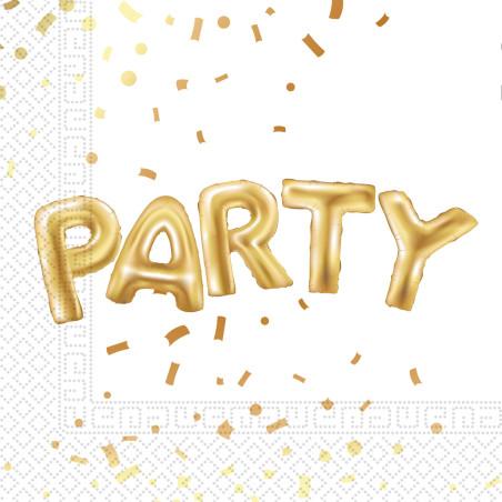 Set 20 servetele Gold Party