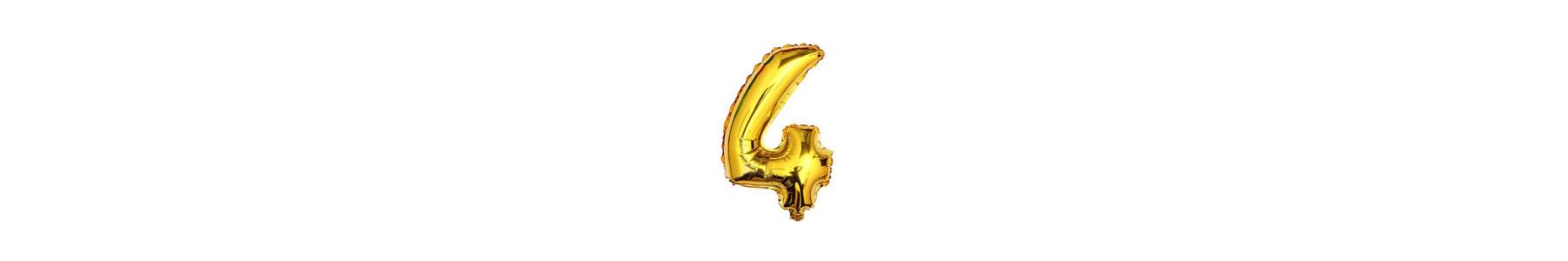 Baloane cifre color 35 cm