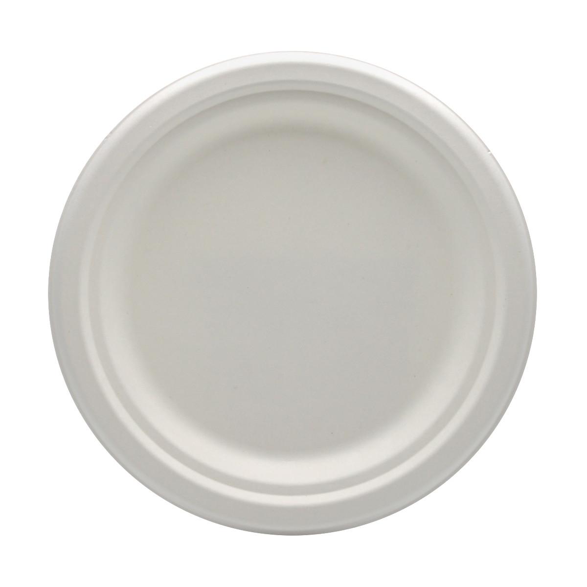 Set 125 farfurii biodegradabile plate 18 cm rotunde