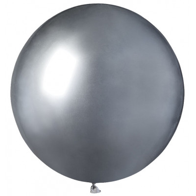 Mini balon jumbo chrome argintiu 48 cm