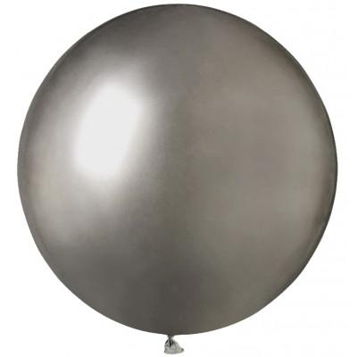 Mini balon jumbo chrome gri 48 cm