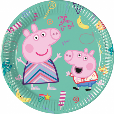 Set 8 farfurii party carton 20 cm Peppa Pig