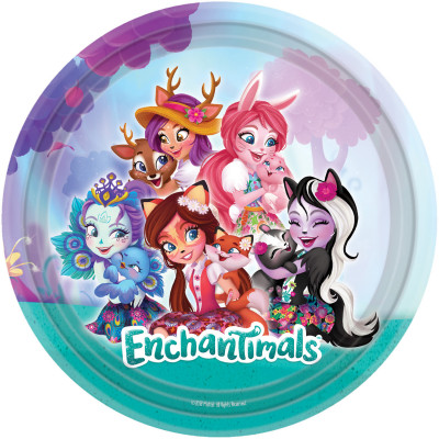 Set 8 farfurii party 23 cm Enchantimals