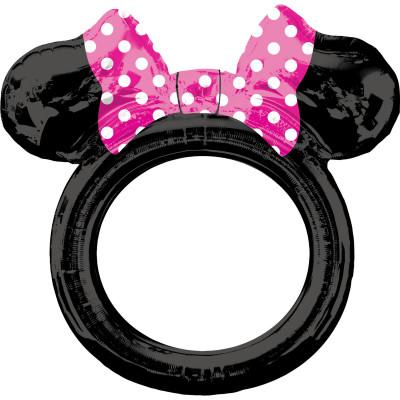 Balon folie selfie frame Minnie Mouse