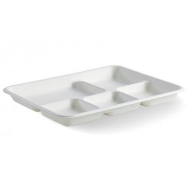 Set 50 tavi 5 compartimente biodegradabile