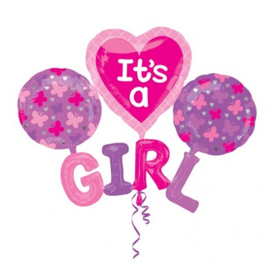 Balon figurina multi folie It's a Girl