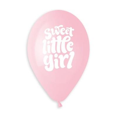 Set 50 baloane roz 33 cm Sweet Little Girl