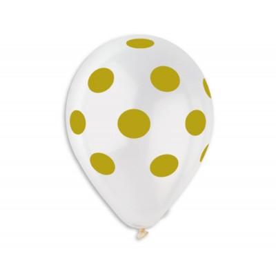 100 baloane clear 30 cm inscriptionate cu buline aurii