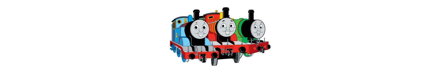 Colectia de articole party Trenuletul Thomas - farfurii Thomas, pahare Thomas, Servetele Thomas