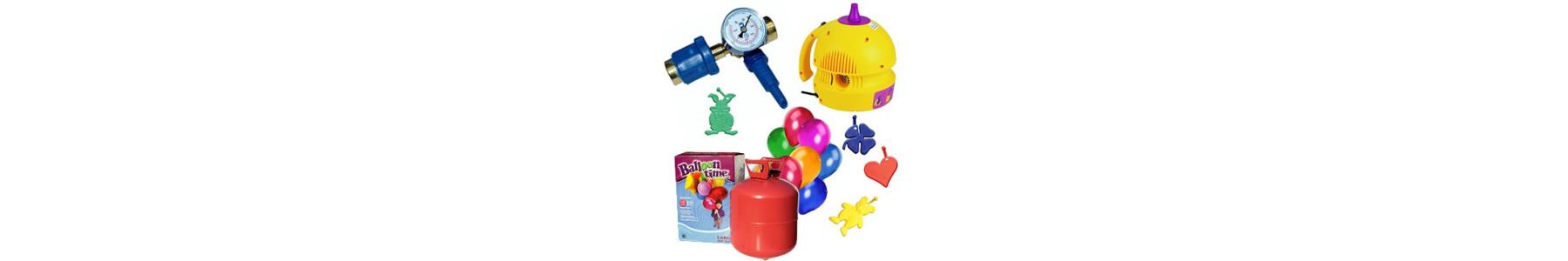 Pompe manuale si electrice pentru umflat baloane, contragreutati, snururi de rafie, betisoare cu rozeta