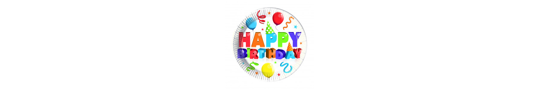 Accesorii de petrecere Colorful Happy Birthday