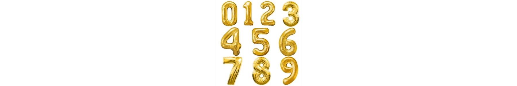 Baloane cifre aurii