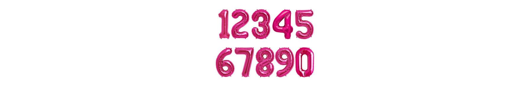 Baloane folie figurine cifre fuchsia