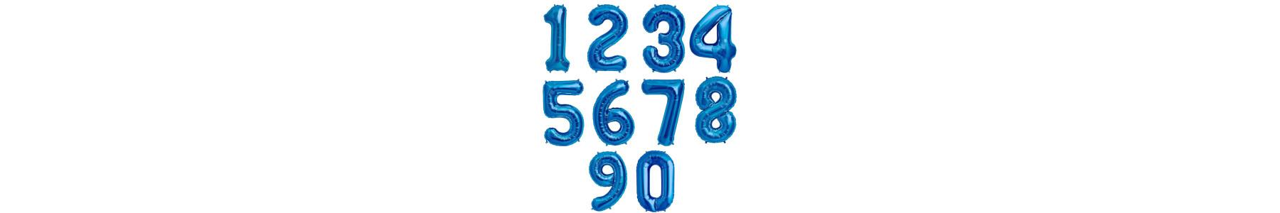 Baloane folie cifre albastre