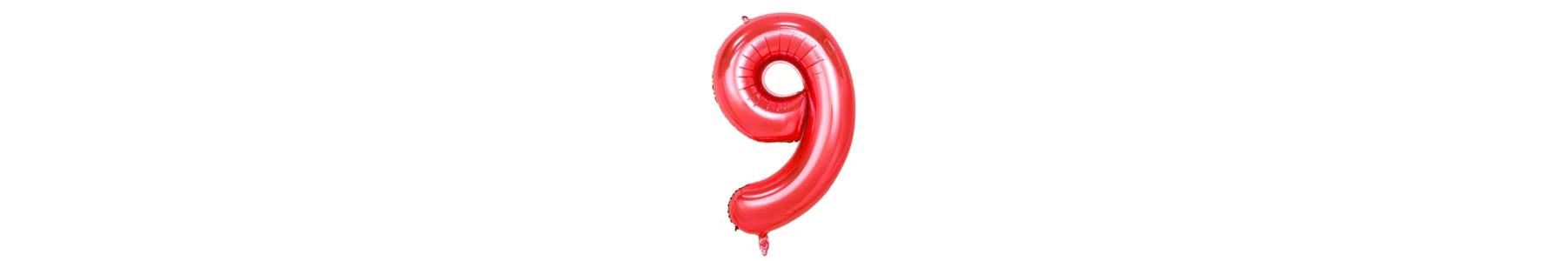 Baloane folie cifre rosii 35 cm
