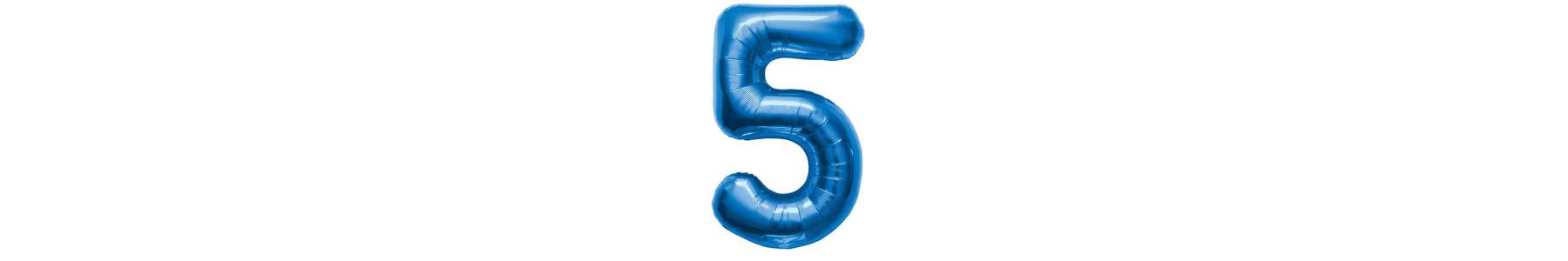 Baloane folie cifre albastre 35 cm