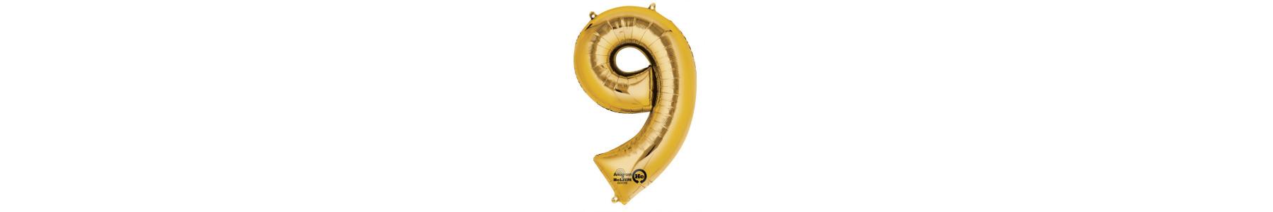 Baloane folie cifre aurii care se umfla cu heliu!