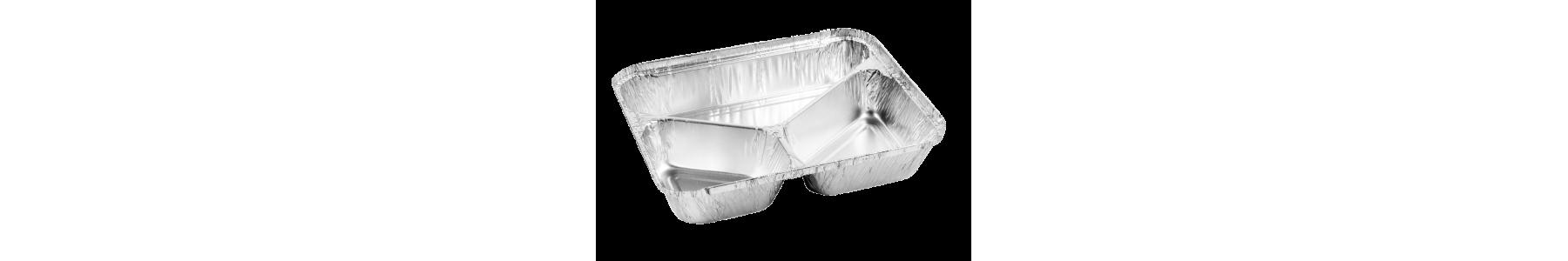 Caserole din aluminiu de unica folosinta.