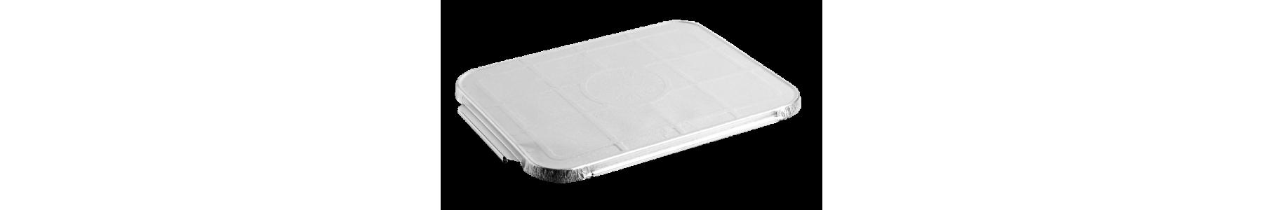 Capace din aluminiu/carton sau PET pentru caserolele din aluminiu